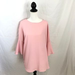 Philosophy Pink Bell Sleeve Top Size 0X